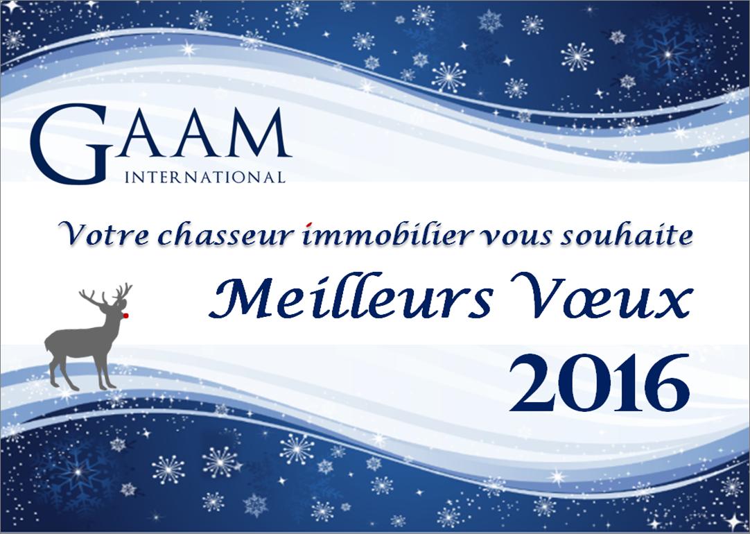 Meilleurs voeux 2016 GAAM International